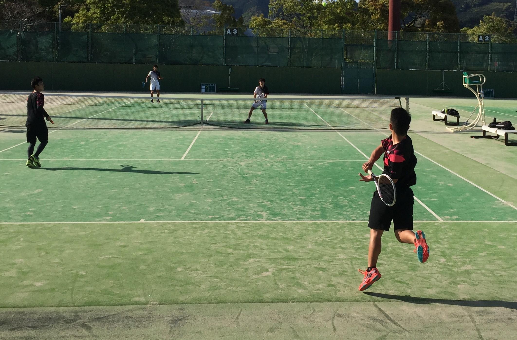 高校総体中部大会 硬式テニス(シングルス・ダブルス出場)