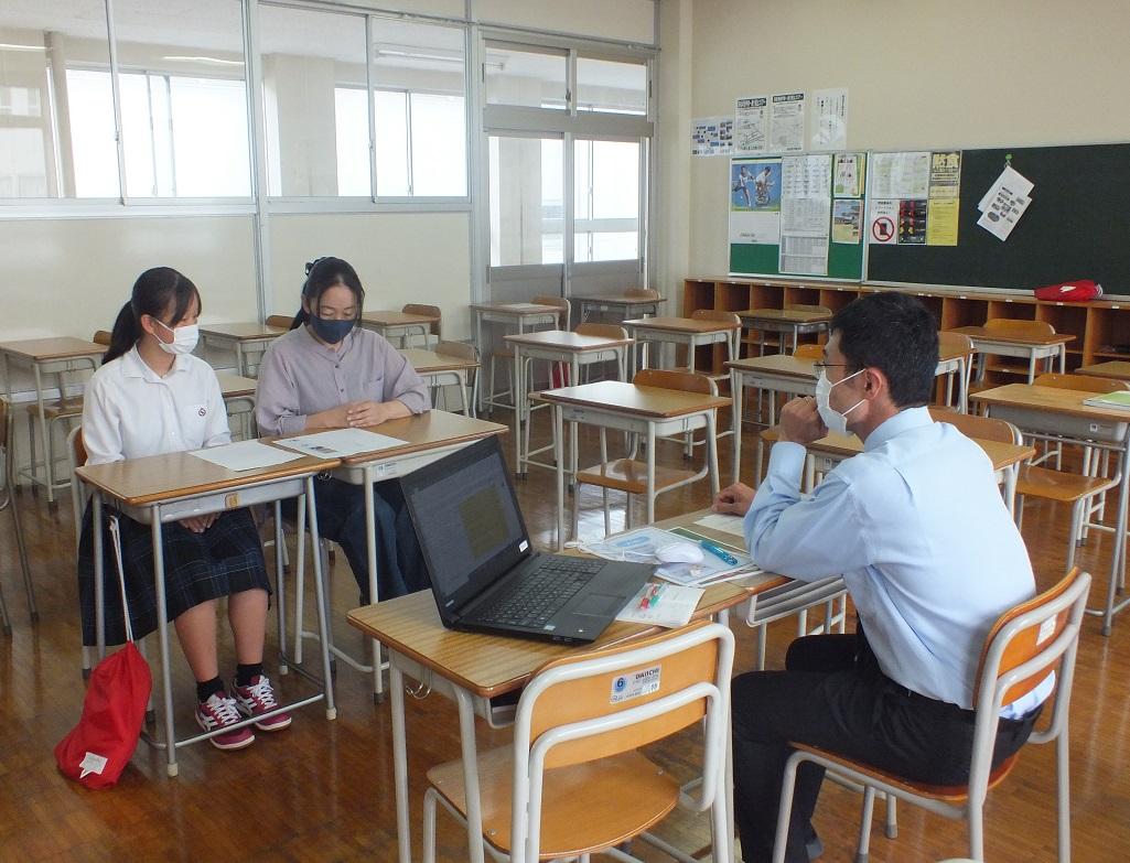 三者面談を各HRで実施、親子で1学期の学校生活を振り返る!