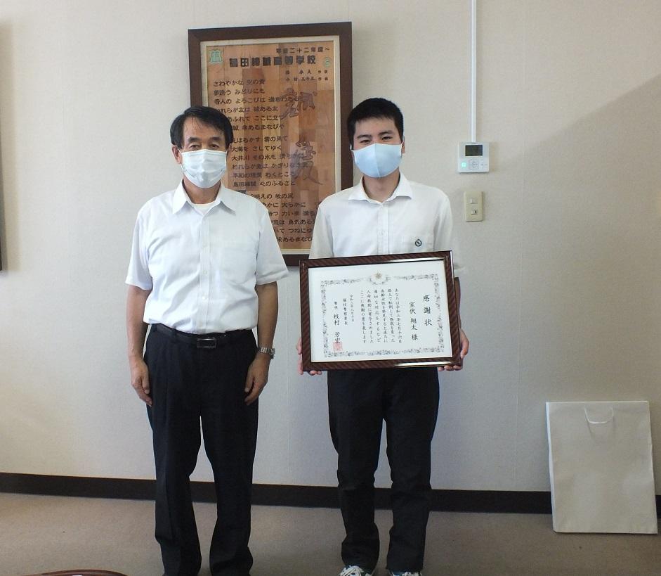 室伏翔太君(32HR)、高齢女性を助け警察署から感謝状贈呈される!