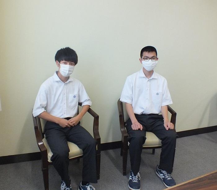 本校2年、3年有志「島田市平和祈念事業」参加!平和への願いを短冊につづる!