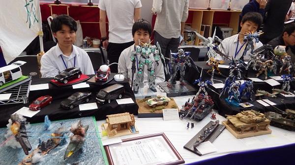 模型部が静岡ホビーショーに作品を出展しました