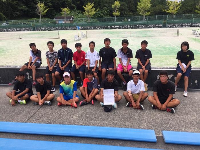 ソフトテニス部 新人戦シード権争奪研修大会 学校対抗戦
