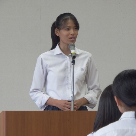 静岡県高校英語スピーチコンテストに出場しました