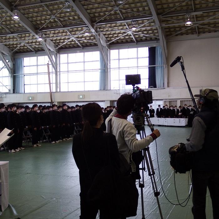 卒業式の様子が「めざましテレビ」で紹介されました