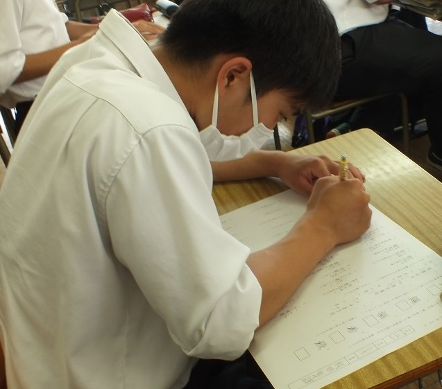 校内一斉漢字テスト(第2回)実施