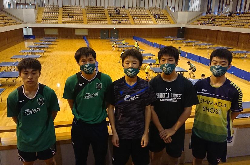 卓球部全日本選手権ジュニアの部、男子5人女子3人が中部大会を勝ち抜き県大会出場へ