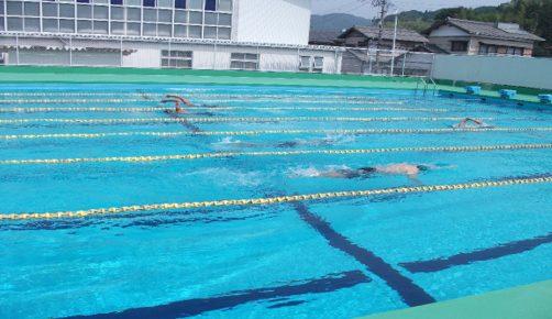 水泳部 玉谷君 新人戦中部大会1位で県大会出場へ