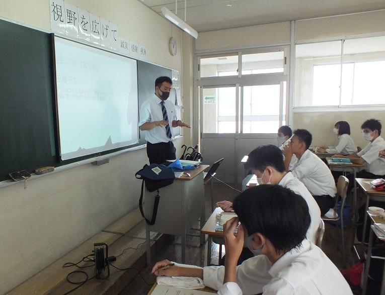 教育実習生荻野さん、将来の先生を目指して授業にチャレンジ!