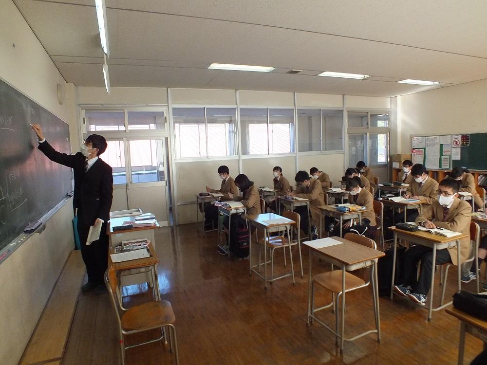 特別進学コース、冬季補講実施中!