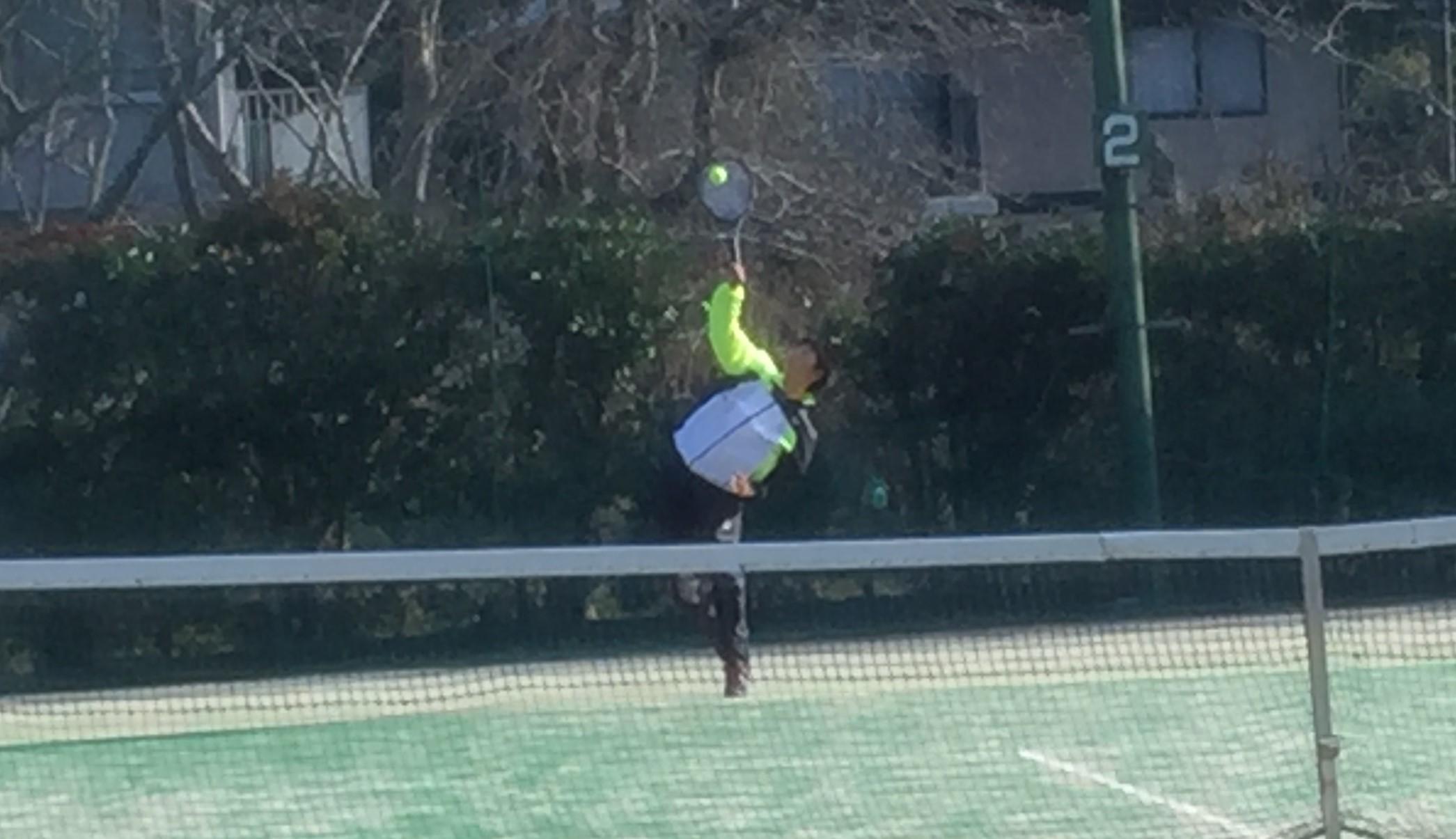 硬式テニス部、令和2年度冬休みアイオープン高校生大会出場!