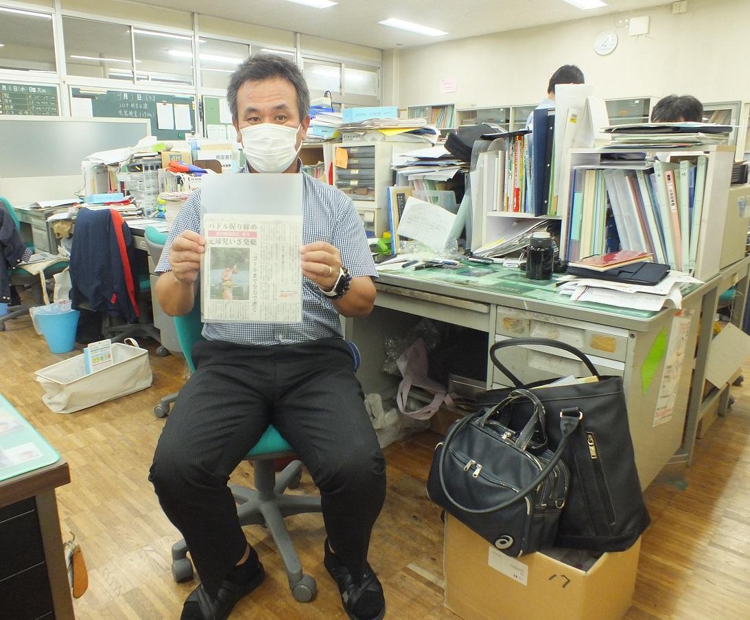 生駒先生、パラリンピック出場の教え子(高木裕太さん)にエールを送る!