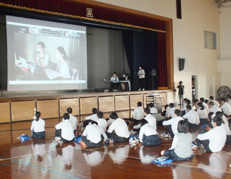 2年生、講師4人によるオンライン進路ガイダンス実施(島田YEG「新みらぷろ」)