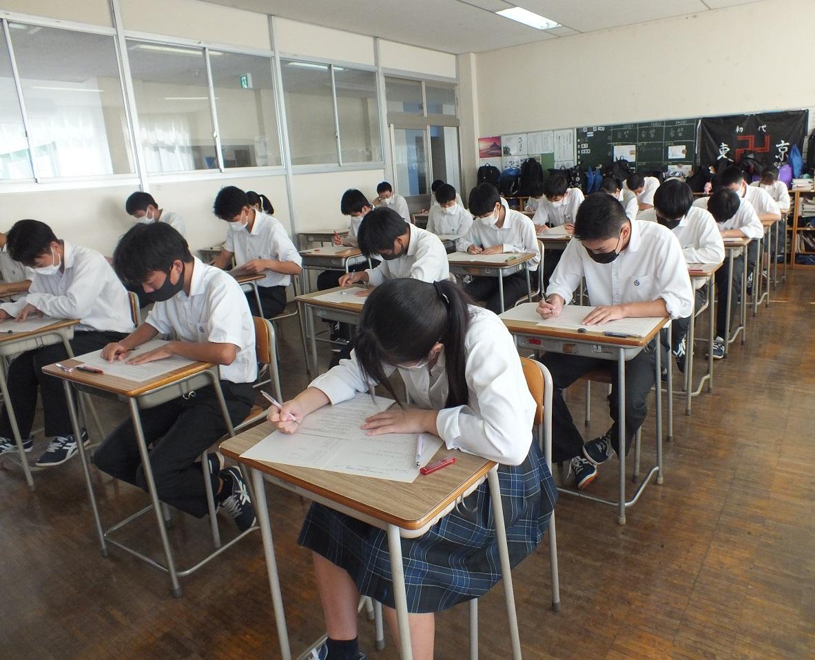 2学期中間試験開始、日頃の学習成果をテストで発揮!
